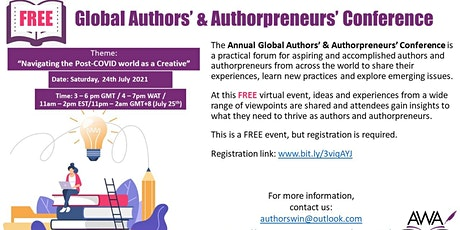GLOBAL AUTHORS' AND AUTHORPRENEURS' CONFERENCE tickets