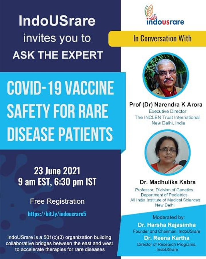 COVID-19 Vaccine Safety for Rare Disease Patients - Ask the Experts image