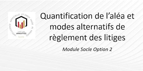 Quantification de l'aléa et  modes alternatifs de règlement des litiges billets
