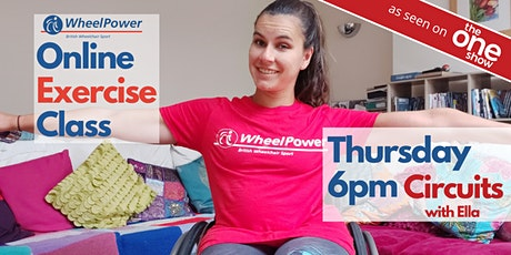 Online Exercise Class with Ella Beaumont (WheelPower) tickets