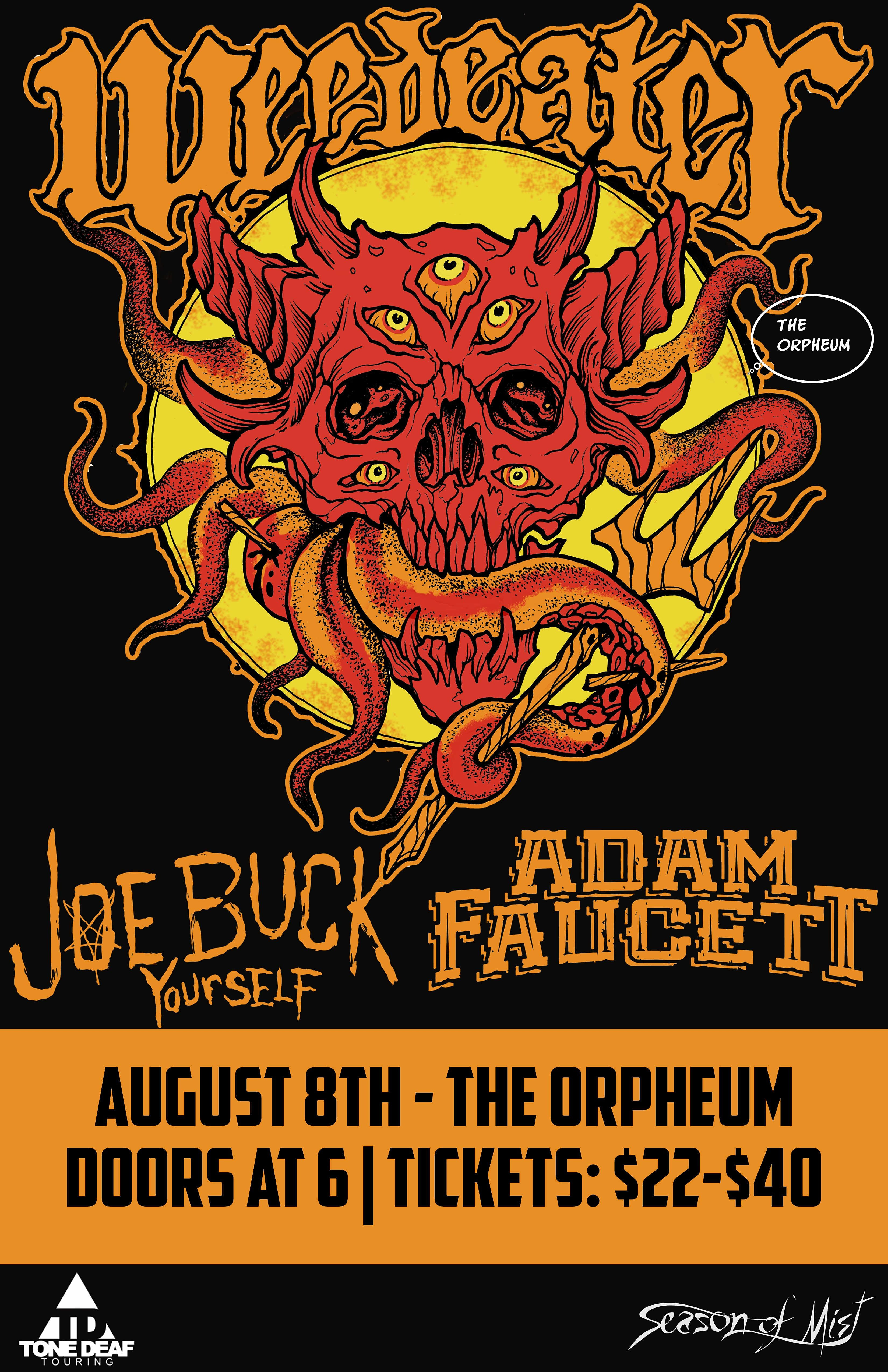 Weedeater, Joe Buck Yourself, and Adam Faucett in Tampa at the Orpheum.