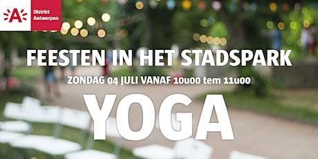 Feesten in het Stadspark  2021- YOGA tickets
