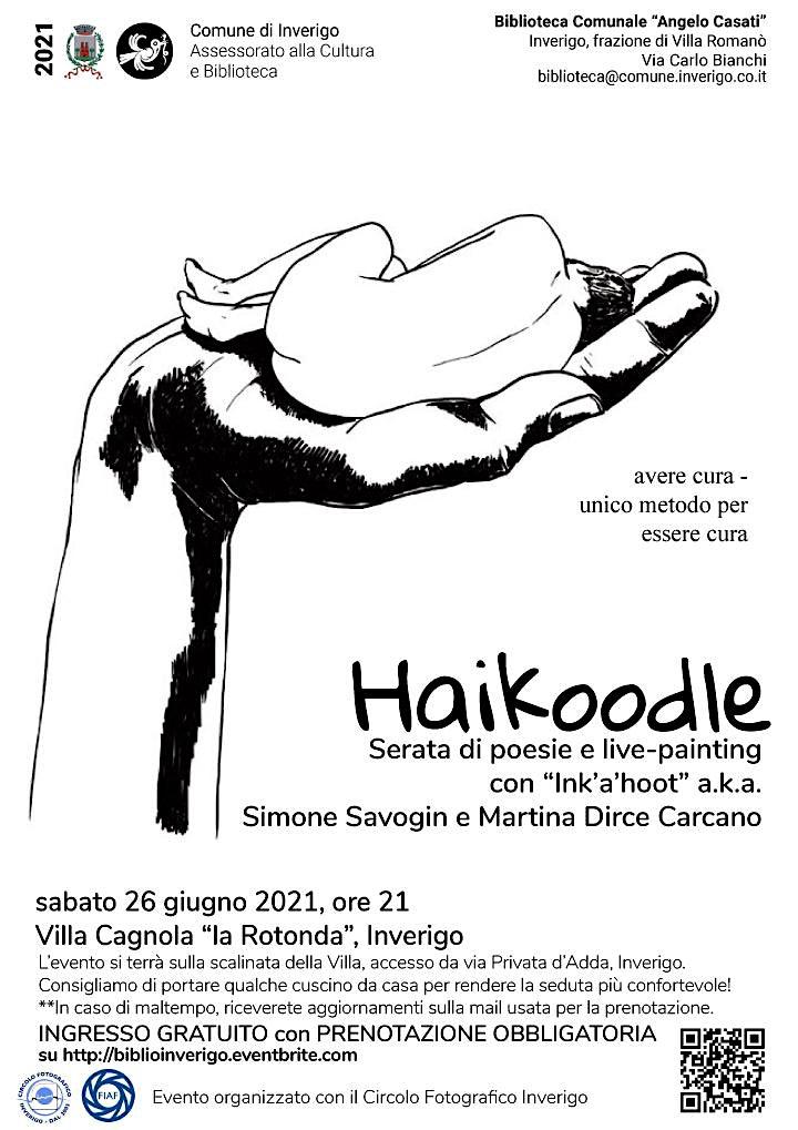 Immagine Haikoodle poesie e livepainting con Simone Savogin e Martina  Dirce Carcano