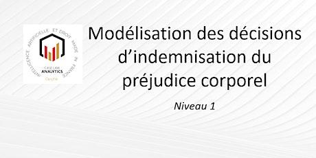 Modélisation des décisions  d'indemnisation du préjudice corporel billets