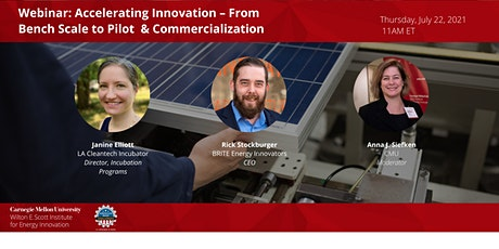 Accelerating Innovation – From Bench Scale  to Pilot & Commercialization tickets