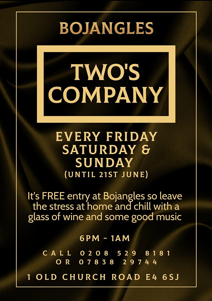 Two's Company – Soul Night at in Chingford! image