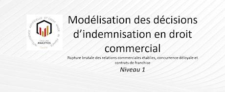 Modélisation des décisions  d'indemnisation  en droit commercial billets