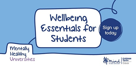Wellbeing Essentials for Students - Society Special tickets