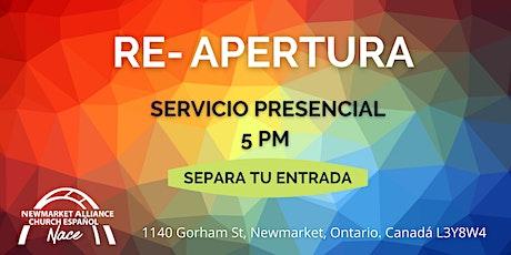 """""""RE-APERTURA"""" - Servicio Congregacional NACE (Sabado 12 de Junio - 5 pm) tickets"""