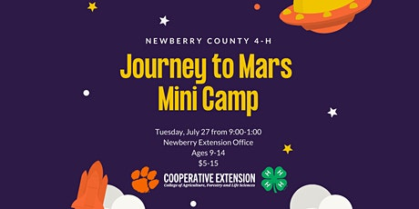 Newberry County 4-H Journey to Mars Mini Camp tickets