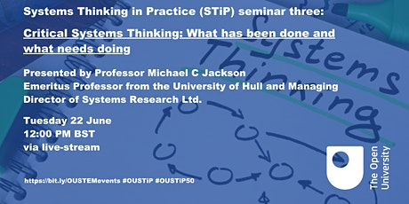 Critical Systems Thinking: What has been done and what needs doing tickets