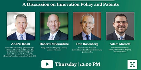 Virtual Event | A Discussion on Innovation Policy and Patents tickets