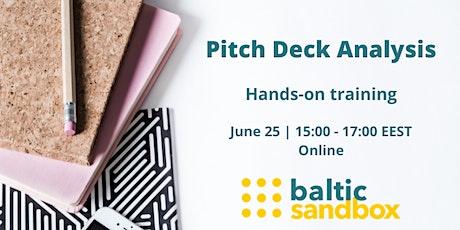 Pitch deck analysis - hands on training by Baltic Sandbox tickets