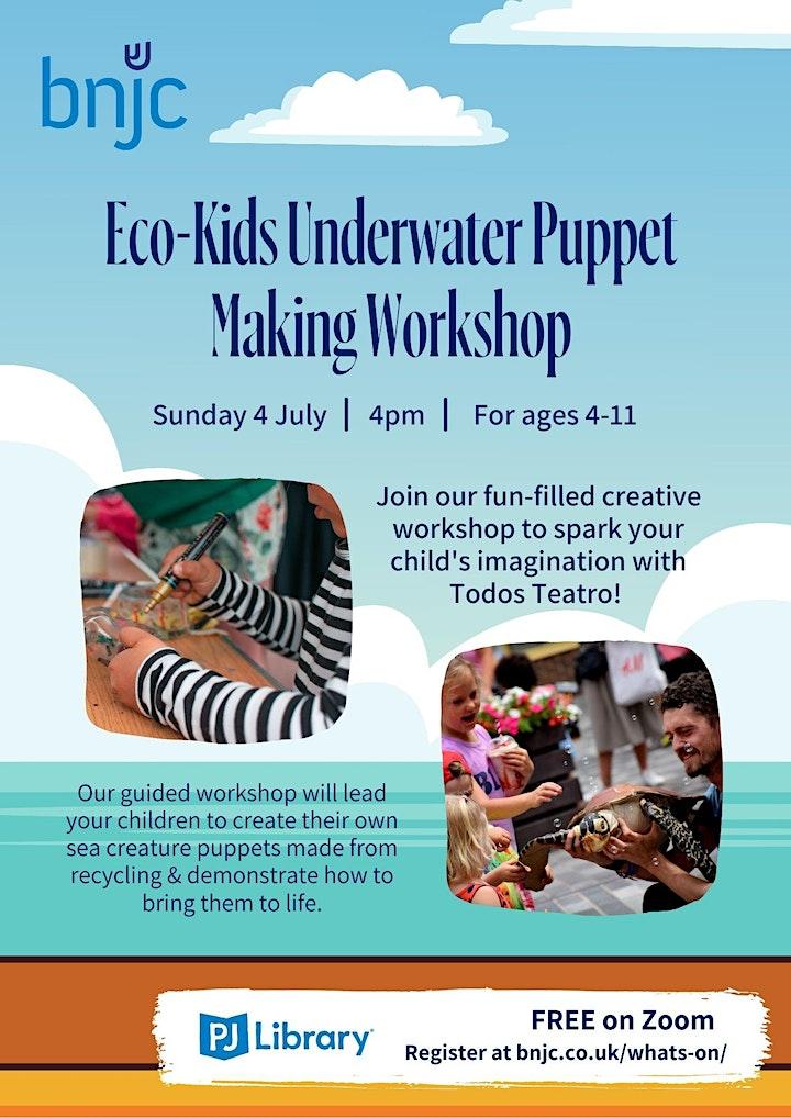 Eco-Kids Underwater Puppet Making Workshop image