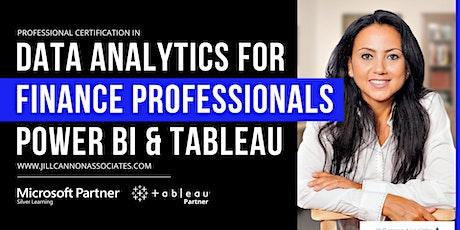 Data Analytics for Finance Professionals: Power BI & Tableau tickets