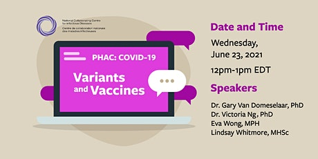 PHAC: COVID-19 Variants and Vaccines tickets