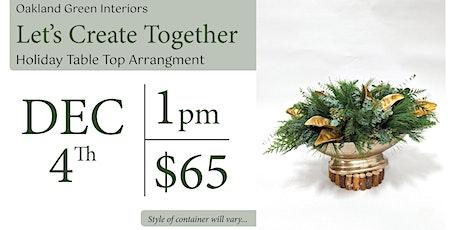 Holiday Tabletop Arrangement workshop tickets