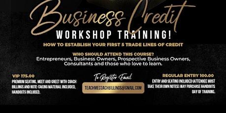 Build Business Credit Workshop tickets