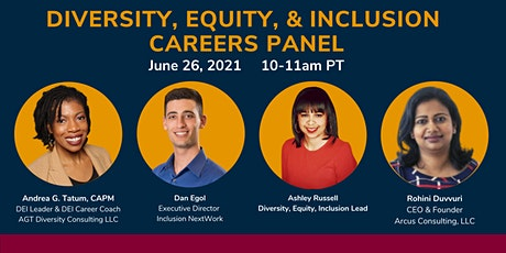 Diversity, Equity, and Inclusion Careers Panel - June 26 tickets