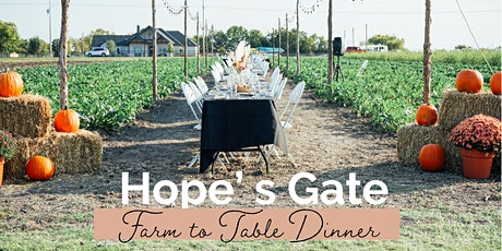 Hope's Gate Farm to Table Dinner tickets