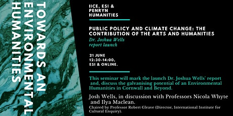 Towards an Environmental Humanities: in-person & online IICE & ESI Seminar tickets