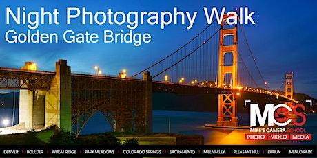 Night Photography Walk - Golden Gate Bridge, San Francisco tickets