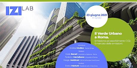 Webinar IZI Lab - Il Verde Urbano a Roma. Emissione ed assorbimento CO2. tickets