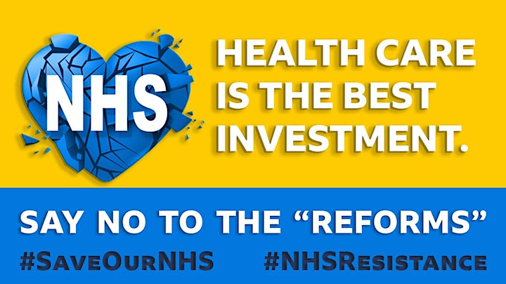 Organise against the NHS White Paper and for staff pay image