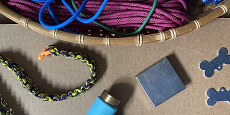 DIY Woven Dog Collar and Stamped Metal Tag tickets