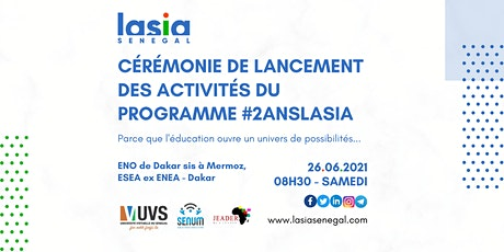 Lancement des activités - 2 ans de LASIA Sénégal billets