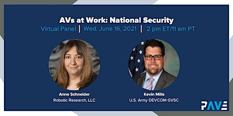 PAVE Virtual Panel: National Security tickets