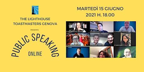 PUBLIC SPEAKING - L'ARTE DI PARLARE IN PUBBLICO biglietti