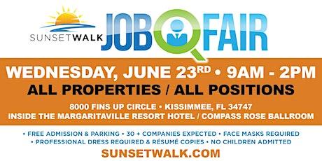 Sunset Walk Job Fair tickets