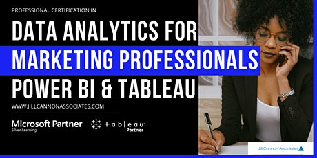 Data Analytics for Marketing Professionals: Power BI & Tableau tickets