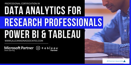 Data Analytics for Research Professionals: Power BI & Tableau tickets