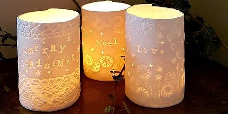 Porcelain tealight holders and Christmas decorations tickets