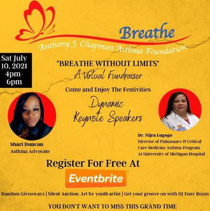 Breathe Without Limits -  A Virtual Fundraiser image