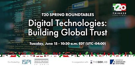 Digital Technologies: Building Global Trust tickets