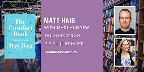 Matt Haig with Mari Andrew: The Comfort Book tickets