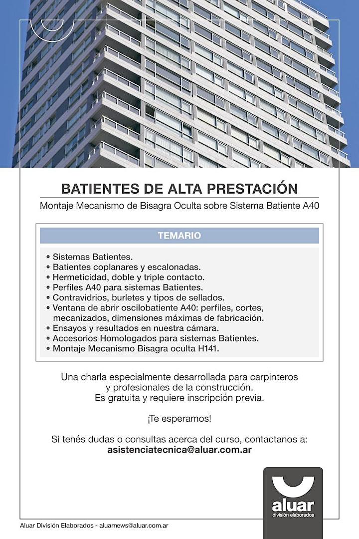 Imagen de CHARLA ONLINE    BATIENTES DE ALTA PRESTACIÓN