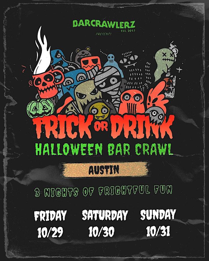 Trick or Drink: Austin Halloween Bar Crawl (3 Days) image