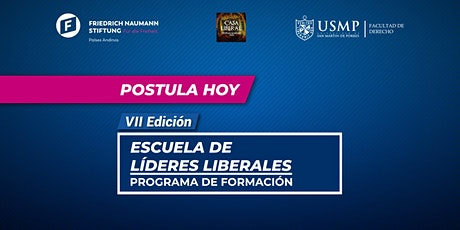 "PROGRAMA DE FORMACIÓN ""ESCUELA DE LÍDERES LIBERALES"" FNF - USMP entradas"