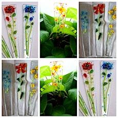 Glass Flower Plant Stake Workshop - Garden City tickets