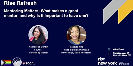 Mentoring Matters: What makes a great mentor, and why have one? tickets
