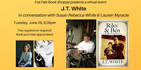 JT White in conversation with Susan Rebecca White & Lauren Myracle Virtual tickets