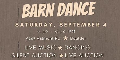 Early Bird ticket sales for Medicine Horse Barn Dance Fundraiser tickets