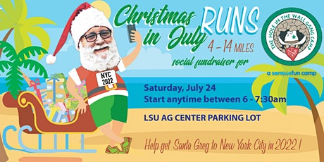 Christmas in July  Fundraising Social Run. Distances from 4-14 Miles tickets