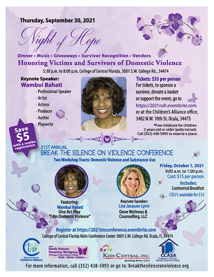 2021 Night of Hope: Honoring Victims and Survivors of Domestic Violence image