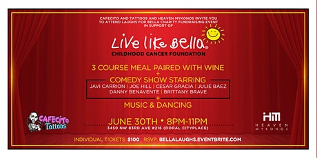 Laughs for Bella - Fundraising Charity Dinner tickets