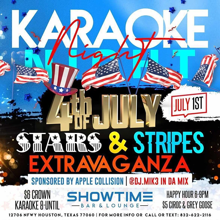 Karaoke Night Stars & Stripes Extravaganza image